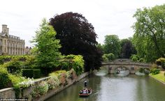 Serene: Groups enjoyed a boat ride down the River Cam in Cambridge earlier today as foreca...