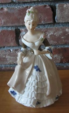 Victorian Lady Figurine with Marking on the bottom R