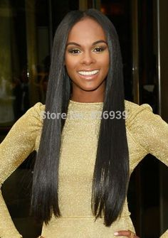 Free shipping unprocessed Brazilian middle parting u part wigs12-26inch natural color 130%-150% density yaki straight hair wigs