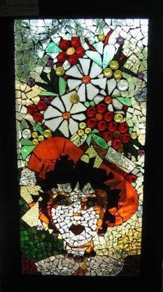 The flower hat - glass mosaic