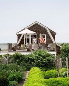 """I have a fondness for summer cottages that actually look, feel and smell like cottages. Painted floors, slip covered furniture, outdoor showers, the scent of salt air and screen doors that make a """"thwack"""" sound when they close.  __________ #summer #cottage #authentic"""