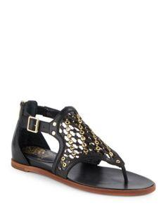 5d3fbc5c1246 Vince Camuto - Embellished Leather Sandals