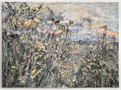 Anselm Kiefer, Paul Celan: wir schöpften die Finsternis leer, wir fanden das wort, das den Sommer heraufkam: Blume; (We scooped the darkness empty, we found the word that ascended summer: flower), 2012, oil, emulsion, acrylic, on photograph on canvas, 110 1/4 x 149 5/8 inches  (280 x 380 cm )