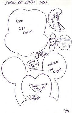 El Blog de Nando: lenceria de baño navideña MICKEY Felt Crafts, Diy And Crafts, Paper Crafts, Mickey Mouse Silhouette, Craft Free, Paper Piecing, Paper Cutting, Winnie The Pooh, Free Printables