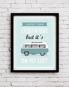 Travel poster Typographic poster Quote art by BlackPelican on Etsy