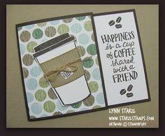 Coffee Cafe Stamp Set, Coffee Cups Framelits Dies Bundle Gift Card