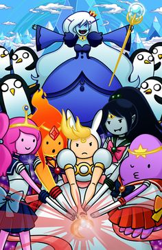 Sailor Moon +adventure time.this fulfills my geek levels.