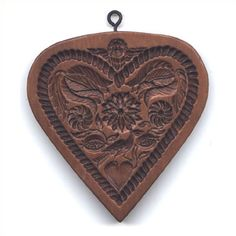 My husband bought me this heart of flowers for Valentine's Day 2014!  Sweetheart Beguiling love token, resplendent with angel, bird, flowers and a heart within a heart. 17th century. Actual Size:4.125 x 4.25 inches