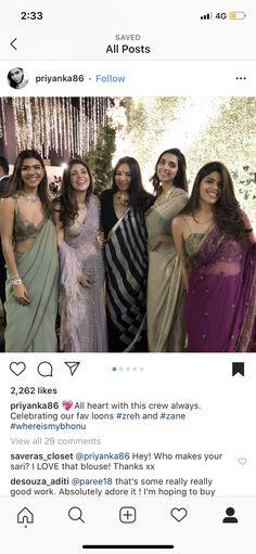 All Heart, Bridesmaid Dresses, Wedding Dresses, Ethnic, Thankful, Sari, My Love, Blouse, Celebrities
