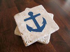 Anchor Nautical Travertine Coasters