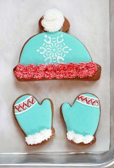 Hat and Mitten cookies