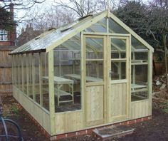 Swallow Raven 8ft x 14ft Wooden Greenhouse made from tanalised redwood timber. Installation included in the price. £2575.00 http://www.greenhousestores.co.uk/Swallow-Raven-8x14-Wooden-Greenhouse.htm