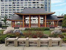 Ping Tom Memorial Park's 12-acre site at 300 West 19th Street in Chinatown was originally a Chicago and Western Indiana Railroad yard located along the edge of the South Branch of the Chicago River in the Armour Square community. In 1998, the Chicago Park District began transforming the old railyard into a beautiful rolling green space, taking full advantage of impressive river views. The park has a children's playground, community gathering areas, and Chinese landscape design elements.