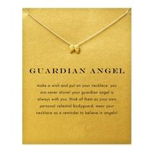 Hot Sale guardian angel, angel wings necklace gold plated Pendant necklace Clavicle Chains Statement Necklace Women Jewelry(China…