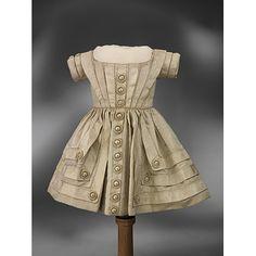 Girls Dress 1850, British, Made of silk