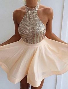 Cute Prom Dresses,A-line Sequins Ho