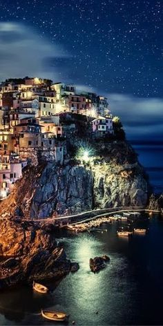 Manarola at Night, Italy