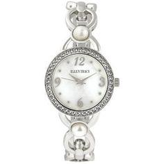 Ladies Ellen Tracy Silver Link Watch - ET5233SL , Silver