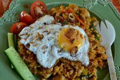 nasi goreng resep, resep, nasi goreng recipe, bali indonesia, indonesia