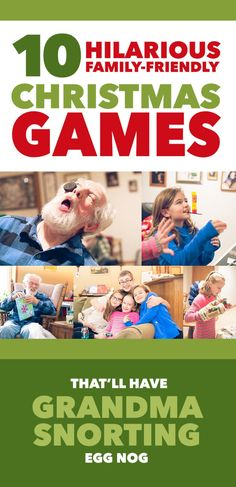 10 Hilarious Family-Friendly Christmas Games That'll Have Grandma Snorting Egg Nog *Loving this list of minute to win it games! games 10 Christmas Games That'll Have Grandma Snorting Egg Nog Christmas Games For Family, Xmas Games, Holiday Party Games, Holiday Fun, Christmas Holidays, Minute To Win It Games Christmas, Christmas Party Games For Adults, Christmas Activities For Families, Family Party Games