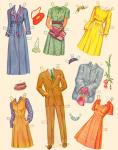 Paper Dolls and Wardbroe box 1944 - Bobe Green - Picasa Albums Web
