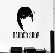 Vinyl Wall Decal Barber Shop Hair Salon Hairdresser Stylist Stickers (ig4628)