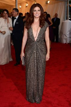 It's not always just about the dress, it's about what makes you look your best. Debra Messing in Kaufmanfranco Met Gala '12. Great pick