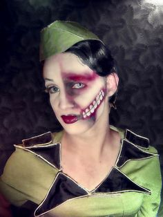 costume--- omg this is from Marilyn Manson's mOBSCENE! I've seriously considered doing this everytime I catch sight of the army costumes in season!