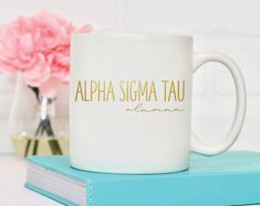 These ceramic mugs are available in 11 oz standard or 15 oz jumbo size. UV Protected, FDA Compliant, Microwave and Dishwasher Safe. Kappa Delta, Sigma Tau, Gamma Phi, Alpha Chi, Engraved Tumblers, Sorority Canvas, Sorority Paddles, Sorority Recruitment, Sorority Big Little