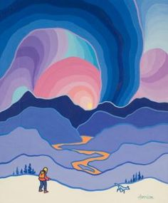 Here you will find artwork by the famed Yukon Artist, Ted Harrison Naive, Cultural Crafts, Jr Art, Lake Art, Ted, Unusual Art, Middle School Art, Art Lessons Elementary, Arts Ed