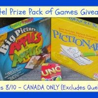Mattel Games Giveaway Ends 8/10 Canada Only Reconnect with the family through fun games like UNO, Pictionary and Apples to Apples! #Mattel