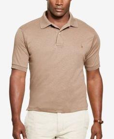 Polo Ralph Lauren Men's Big & Tall Pima Cotton Soft-Touch Polo - Brown 2XB
