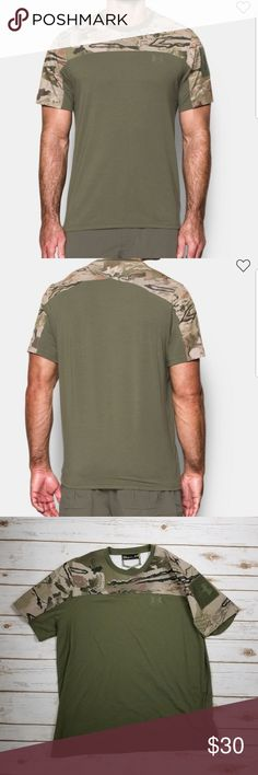 Under Armour camo shirt Under Armour camo short sleeve shirt. See last photo for product description. Size: Large  Excellent used condition Under Armour Shirts Tees - Short Sleeve