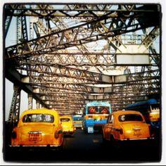 My very first Calcutta Memory - The gorgeous yellow Ambassadors!  #Love  #Calcutta