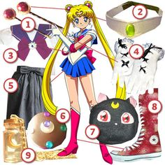 Sailor Moon · DIY The Look · Cut Out + Keep