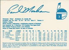 1978 Indianapolis Indians Team Issue #3 Paul Moskau Back