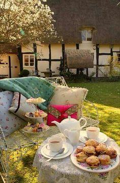 Un té en el jardín