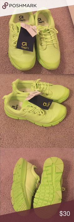 Gap Kids size 4 shoes-NWT Gap Kids, size 4, neon yellow/green athletic shoes. NWT - never worn. GAP Shoes Sneakers