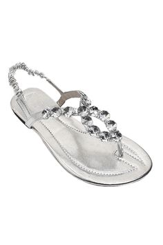 Flat Silver Sandals .... Love these
