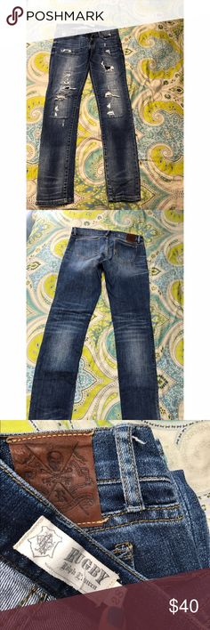 Ralph Lauren Rugby ripped jeans Ralph Lauren Rugby ripped jeans - size 28. EUC - excellent used condition! True to size. Ralph Lauren Jeans