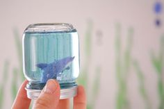 How to make Under the Sea snow globe aquariums