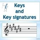 PowerPoint explaining keys and key signatures  35 slide PowerPoint that guides students through how to discover ALL major and minor key signatures!    The order or sharps  The order of flats  How key signatures are drawn in both the treble and bass clef  Relative keys    There are revision questions along the way to reinforce understanding AND there are two student worksheets with answers provided.    The student worksheets are both on the slides AND provided separately as a PDF file.    A…