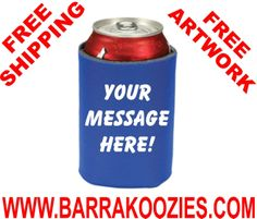 20 Custom Personalized Koozies Can Coolies 2 SIDE by Barrakoozies, $39.00