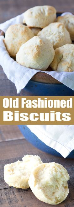 Nothing beats warm flaky old fashioned biscuits straight from the oven. These biscuits are easy to make and require just 6 ingredients. Try this fool proof old fashioned method!