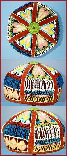 Maliseet type beaded cap.                Canadian Wabanaki type, possibly Maliseet, third quarter of the nineteenth century.