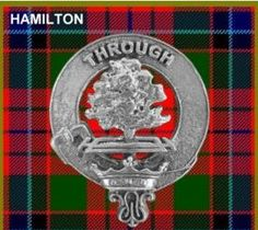 HAMILTON Clan Badge Sterling Silver Small Cap HAMILTON Clan Crest ~ Our Motto~ Through. On sale at For Everything Genealogy