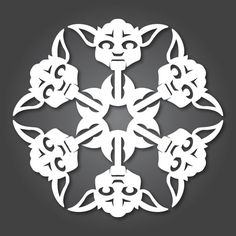 Check out these Star Wars snowflake patterns form Anthony Herrera. A 3Doodler project waiting to happen!   http://anthonyherreradesigns.com/  #Stencil #Snowflake #Christmas #StarWars #anthonyherrera