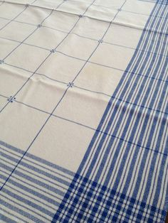 Table square in 16/2 cotton with cross stitch detail. - Elegant! Love the cross stitch detail.