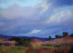 Pastels: Making Clouds Move in a Painting, lighter values