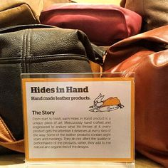"""We love seeing our product so beautifully displayed. Check out what """"MAKE"""" in Vancouver has to say about Hides in Hand! Vancouver, Art Pieces, It Is Finished, Sayings, Check, How To Make, Handmade, Crafts, Hand Made"""